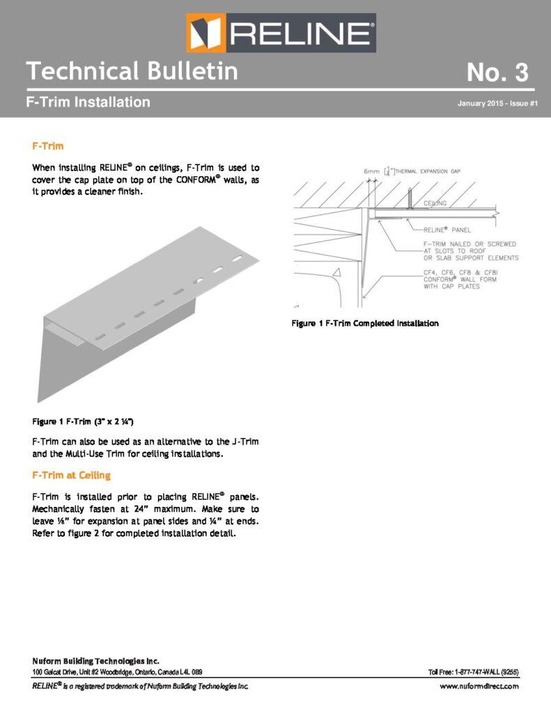 F-Trim Installation