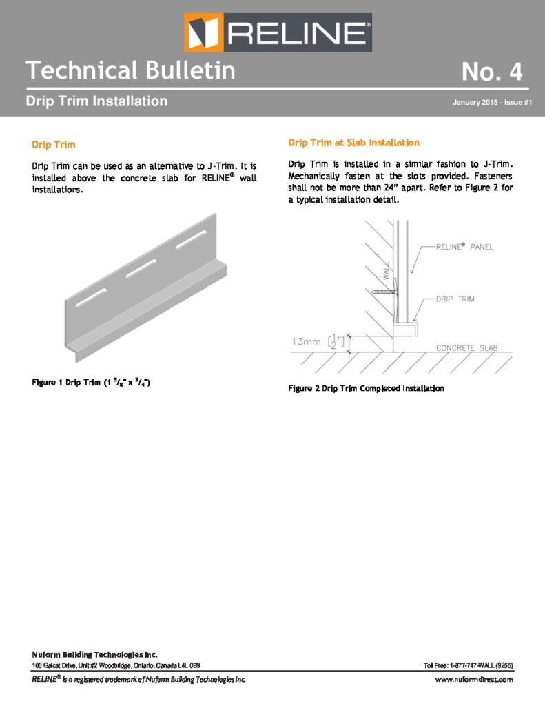 Drip Trim Installation