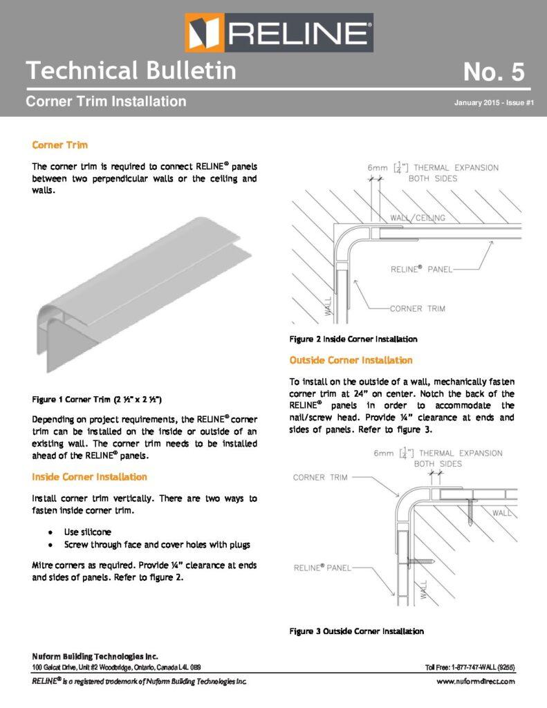 Corner Trim Installation