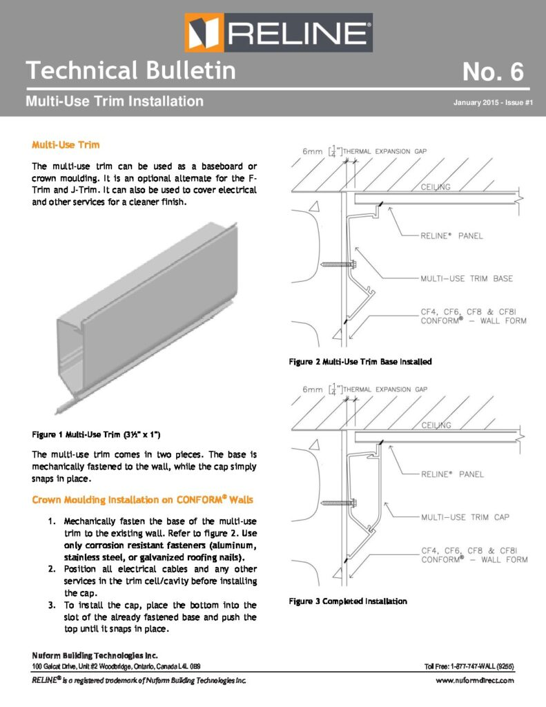 Multi-Use Trim Installation