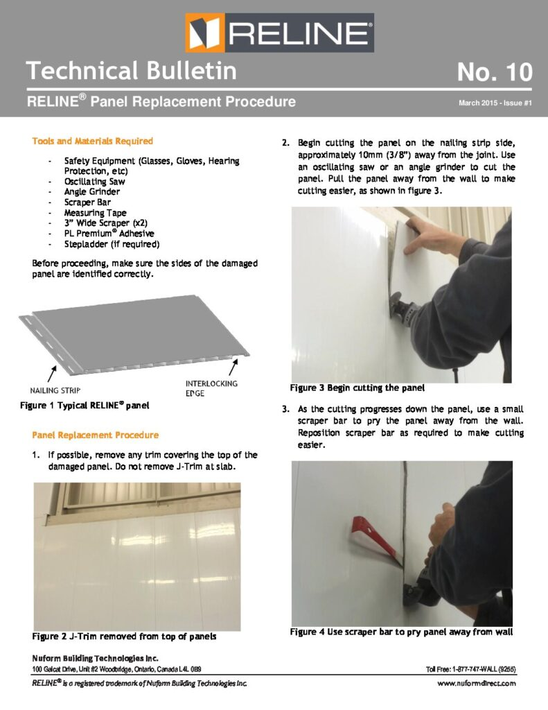 RELINE March 2015 - Issue #1 ® Panel Replacement Procedure