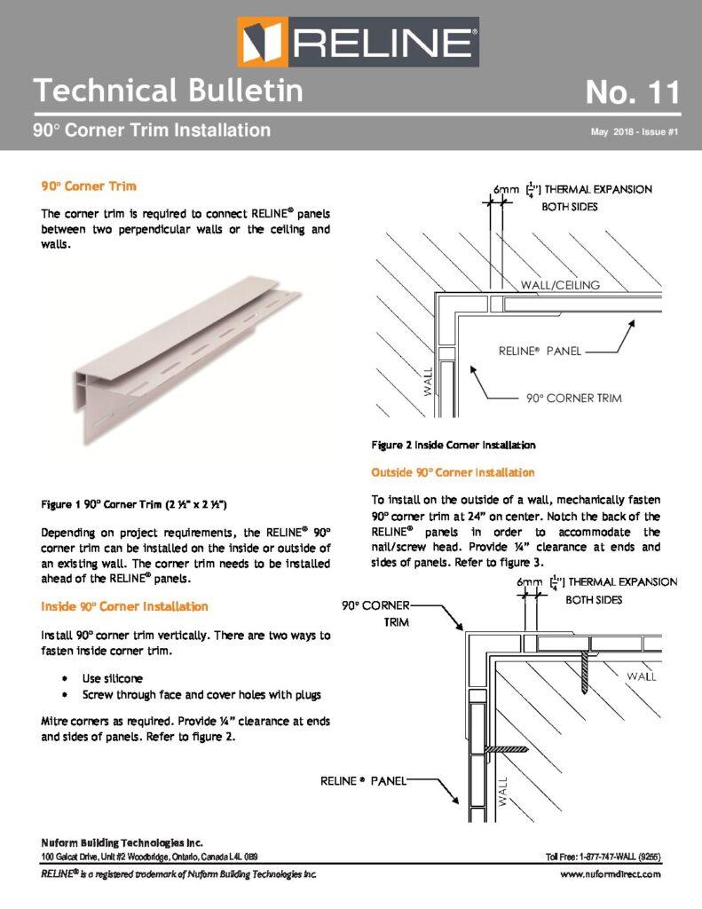 90Corner Trim Installation